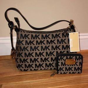 Michael Kors signature shoulder bag and wallet